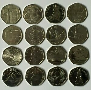 CHEAPEST-50p-COINS-FIFTY-PENCE-KEW-GARDENS-OLYMPICS-BEATRIX-POTTER-ISAAC-NEWTON