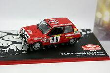Ixo Presse Rallye Monte Carlo 1/43 - Talbot Samba Rally Gr B 1984