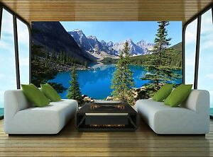 The-Lake-Wall-Mural-Photo-Wallpaper-GIANT-WALL-DECOR-Paper-Poster-Free-Paste
