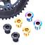 RISK 4pcs M8*10mm Road Bike Crank Bolt Titanium Bike Chainring Bolt Screw 3Color