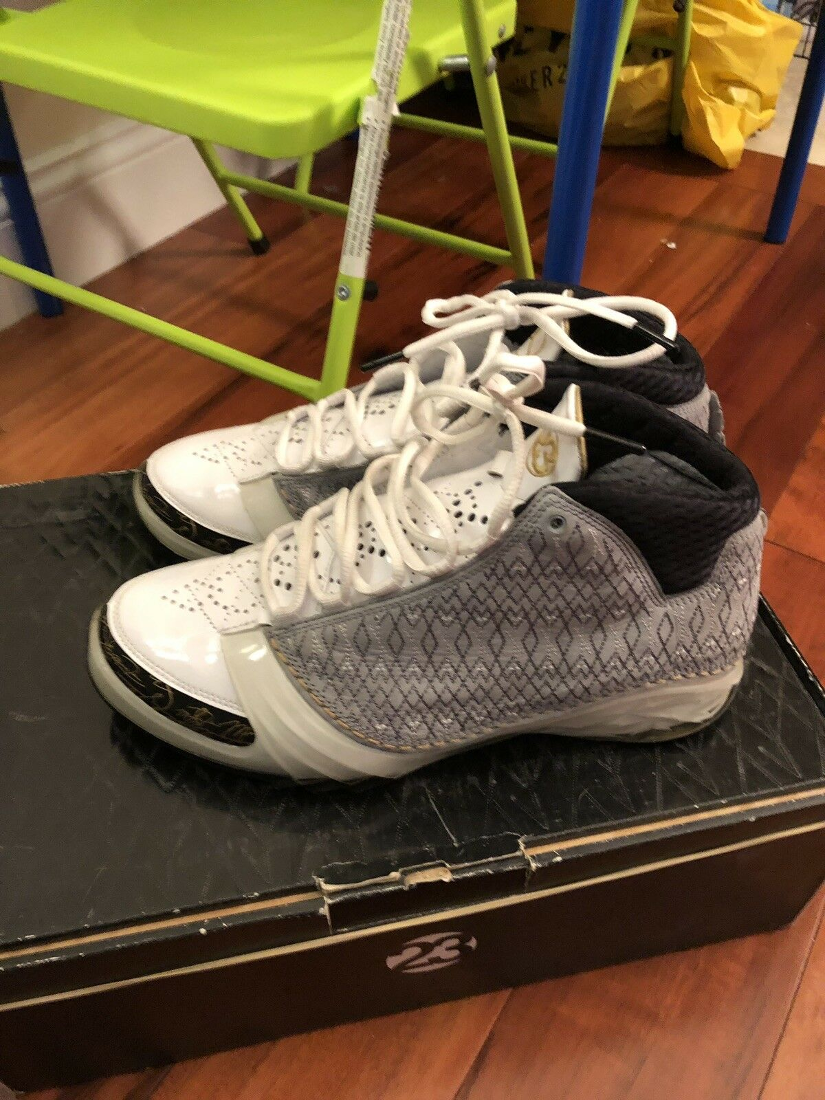 Air Jordan xx3 23 White Stealth Metallic gold 318376 102 Size 10