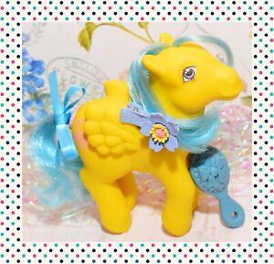 ❤️My Little Pony G1 VTG Tall Tales HAPPY TAILS Yellow Pegasus Giraffes 1987❤️