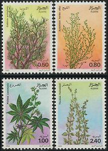 ALGERIE-N-762-765-Fleurs-Plantes-medicinales-1982-Flowers-medicinal-plants-NH