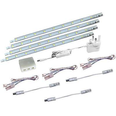4 x 30cm Plug In LED Under Kitchen Cupboard Cabinet Strip Light Warm White 3000K