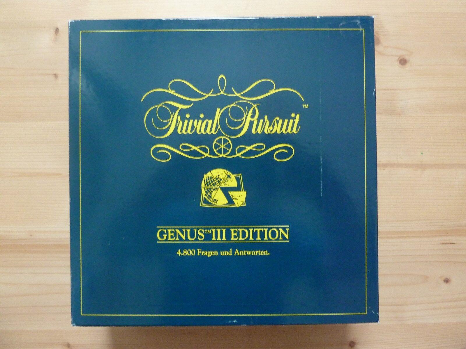 Trivial Pursuit  GENUS III EDITION (1994   TOP-Z.) - 4.800 Fragen und Antworten  | Lass unsere Waren in die Welt gehen