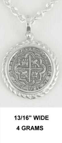 Replica Rope Mel Fisher Atocha Pirate Spanish Coin Shipwreck Pendant Silver