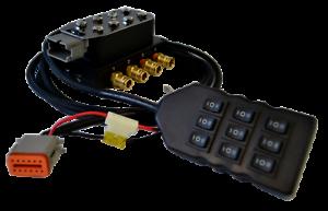 "¼/""NPT Air Ride//Suspension Manifold Solenoid Valve 4-Corner 9-Switch Control 1//4/"""
