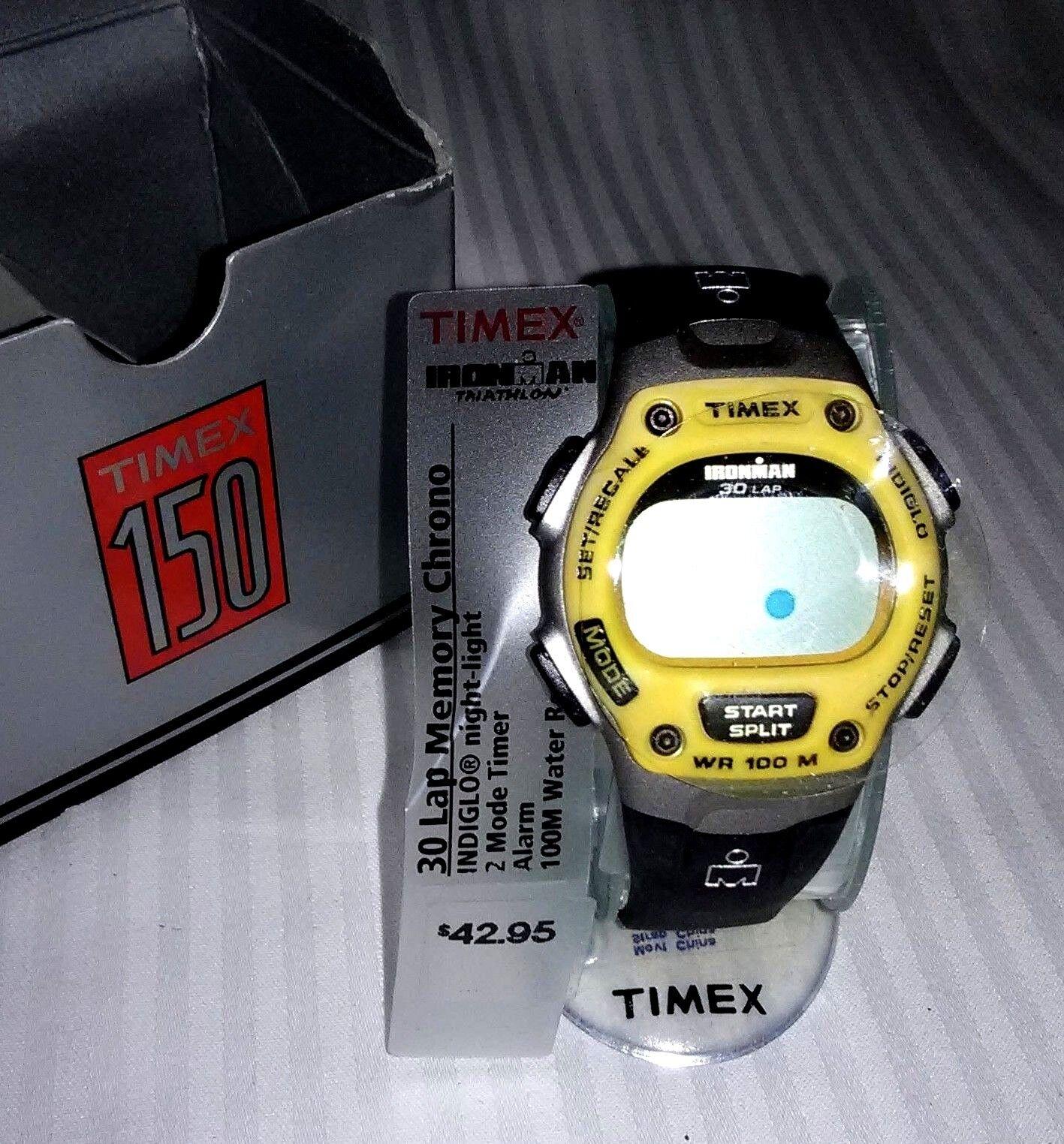 Timex Men's T5E191 Ironman Triathlon 30-Lap Trainer Chrono DIGITAL WATCH  NIB