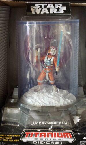 Collezionabile STAR Wars Luke Skywalker figura su Hoth pressofusione TITANIO NUOVO VINTAGE