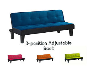 Details about Modern Convertible Futon Sofa Bed Sleeper Adjustable Couch  Living Room Furniture