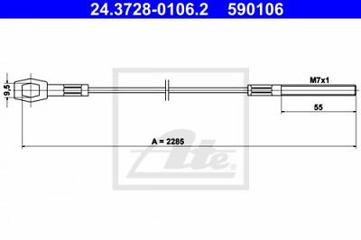 ATE Kupplungsseil Seilzug Kupplungsbetätigung Kupplungszug 24.3728-0106.2