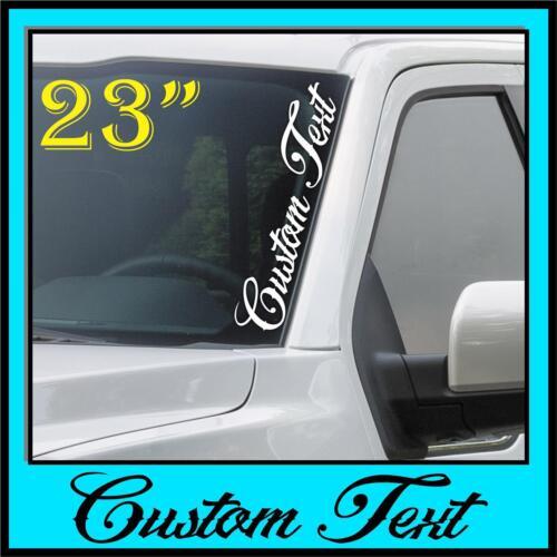 Custom Text Windshield Banner Decal Sticker Vertical Script Side JDM Honda Acura