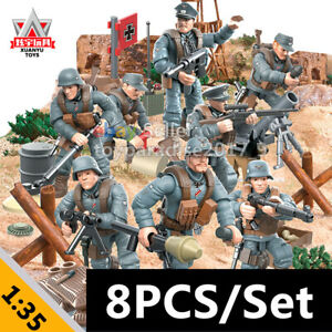 8PCS-WW2-Mini-Military-Soldiers-France-US-Britain-Army-Weapon-Figures-COD