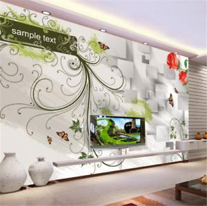 3D Green Leaf pink Box 842 Wallpaper Mural Paper Wall Print Wallpaper Murals UK