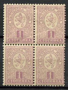 Bulgarien-1889-Mi-28-Ungebraucht-60-Vierer-Block-1-St