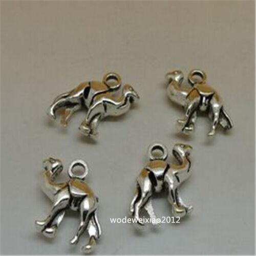 12pc Retro Tibetan Silver camel Charm Beads Pendant accessories Findings JP662