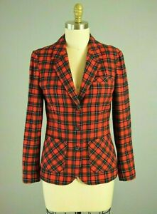 rood zwart plaid jas medium blazer Pendleton maat womens zqOEwt8