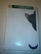 OTTER HOUSE WRITING PAPER BLACK KITTEN  20 SHEETS & ENVELOPES