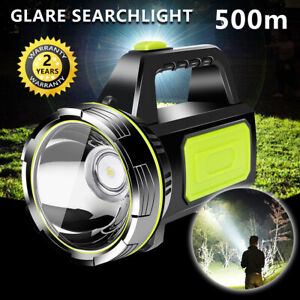 Handheld-LED-Searchlight-Rechargeable-Flashlight-Torch-Camping-Hiking-Light-Lamp