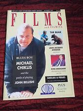 FILMS AND FILMING - UK MOVIE MAGAZINE-OCT 1989 -PETER GREENAWAY-MICHAEL CHIKLIS