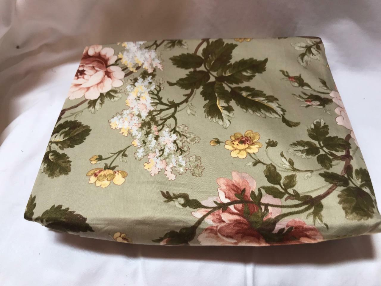 Ralph Lauren Yorkshire pink Green Floral Twin Fitted Sheet New