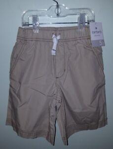 NWT-Carter-039-s-Boys-SIZE-5-Stretch-Elastic-Waist-Shorts-KHAKI-Cotton-SUMMER-32117