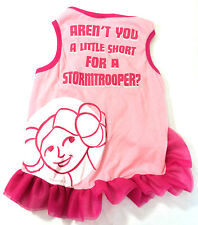 Star Wars Princess Leia Dog Dress XLarge Pink Stormtroopers Pet New