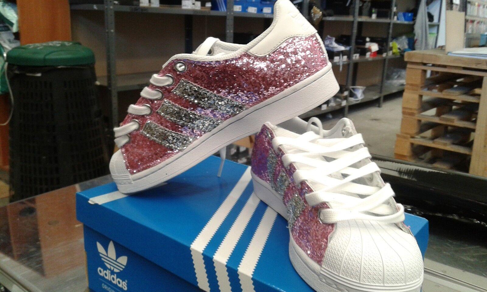 Scarpe rosa adidas superstar con brillantini rosa Scarpe e argento e7935a