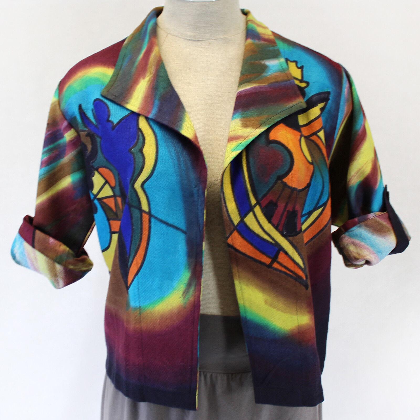 NEW Dilemma Plus Gockel Inspirot Raw Silk Heavy Cardigan Top OS fits XL 1X 2X