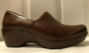 Ariat-Genuine-Brown-Leather-Comfort-Clogs-Women-039-s-Shoes-Size-7