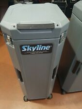Skyline Trade Show Display Case 2 Units Plastic With Wheels On Bottom Gd Con