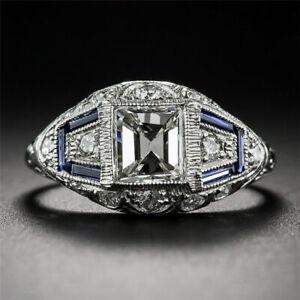 Vintage-925-Silver-White-Topaz-Sapphire-Engagement-Wedding-Rings-Wholesale-6-10