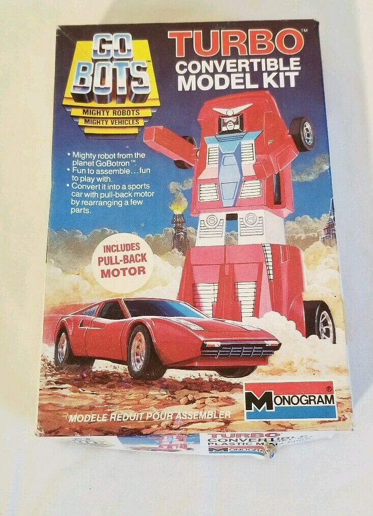 Vintage GO Bot Turbo Congreenible Model Kit 1984Tonka open box but not used.
