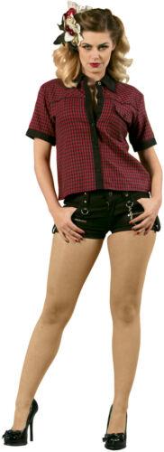 New Dead Threads Ladies Short Black Cotton Punk Emo Rock