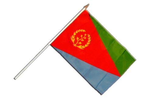 Eritrea Stockflagge Flaggen Fahnen Stockfahne 30x45cm