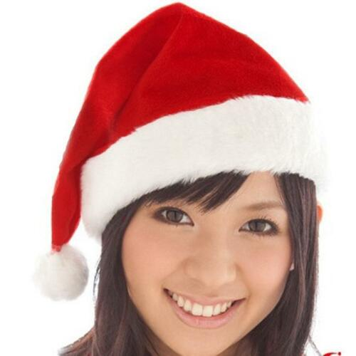 Women Cute Christmas Hat Caps Santa Claus Xmas Cotton Cap Christmas Gift New