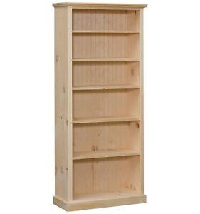 Image Is Loading AMISH Unfinished Pine CUSTOM SIZED BOOKCASE Adjustable 18