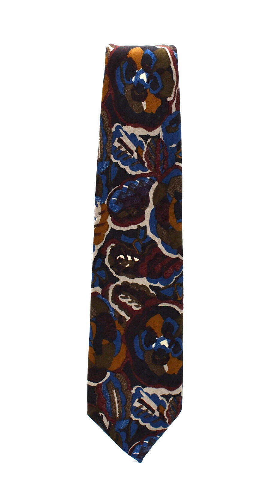 Hand made Very elegant-from France French Haute Couture HANAE MORI PARIS France Vintage Silk Tie Signed Hanae Mori Paris Pure Silk