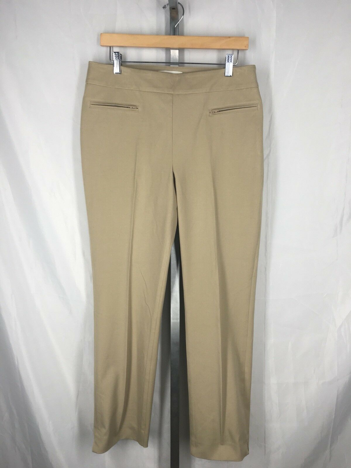 Talbots Outlet Pants Size 10 Slimming Ankle Khaki Tan Beige 29.5 Inseam New