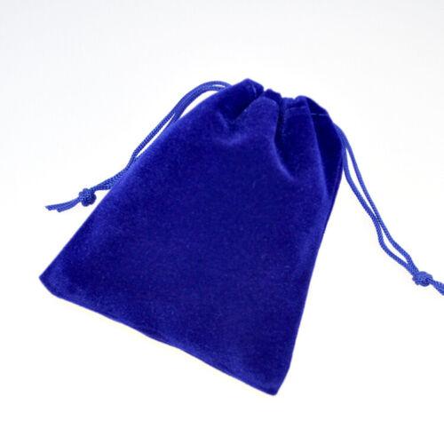 10 sacchetti regalo//gioielli in velluto blu 9 cm x 7 con chiusura a cordoncino