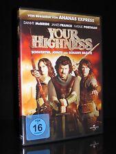 DVD YOUR HIGHNESS - SCHWERTER JOINTS & SCHARFE BRÄUTE - KOMÖDIE - JAMES FRANCO *
