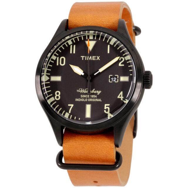 Timex The Waterbury Quartz Movement Black Dial Men's Watch TW2P64700