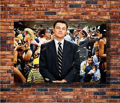 ZA215 The Wolf Of Wall Street Movie Dicaprio Motivational Poster Hot 40x27 36x24