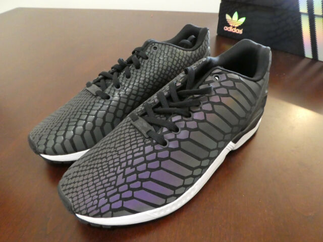 09de109313d2 adidas Men ZX Flux Black XENO B24441 Snakeskin 3m Reflective 10 for ...