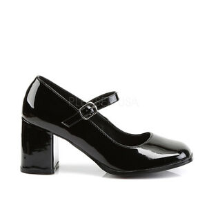 46e68222b3 Black School Girl Mary Janes Costume Heels Mens Drag Queen Shoes ...