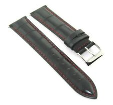 23MM LEATHER WATCH BAND STRAP FOR TISSOT WHITE STITCH