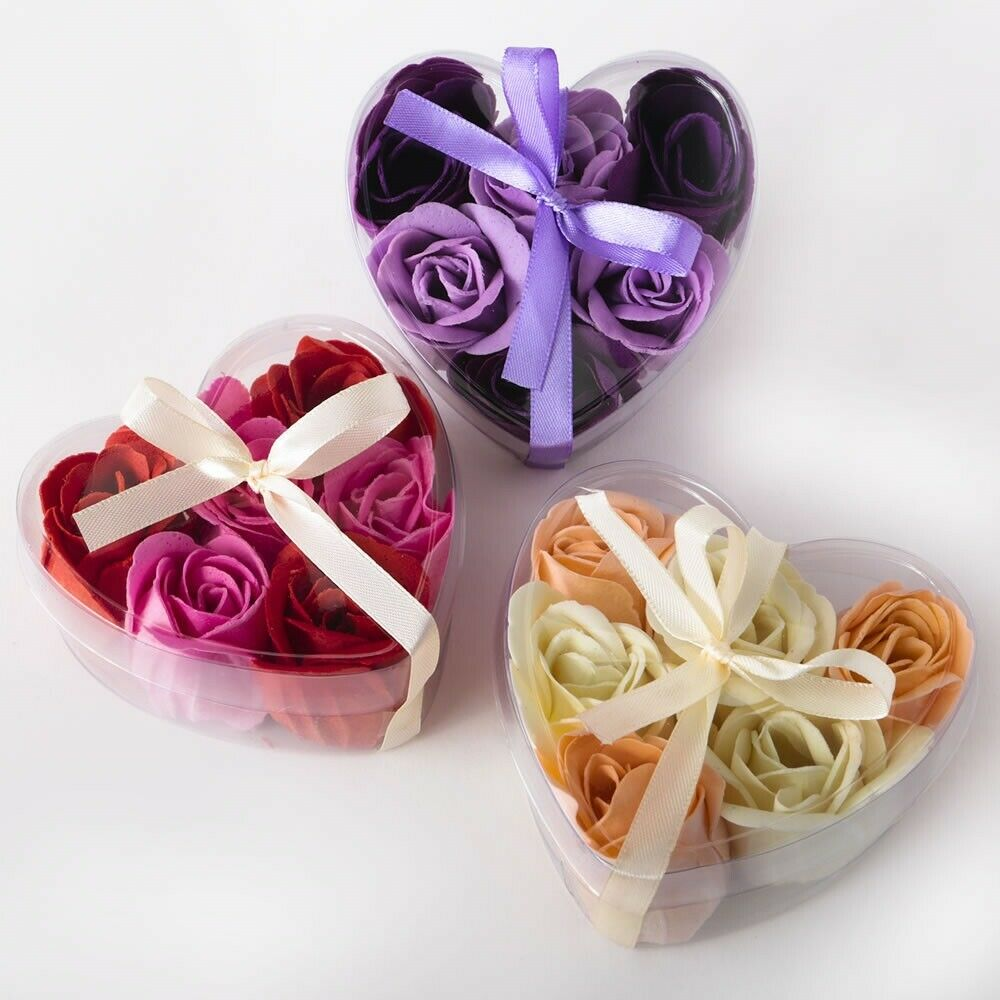 35 Exquisite Assortis Rose Heart Soap Bar Mariage Bridal Shower Party Favors