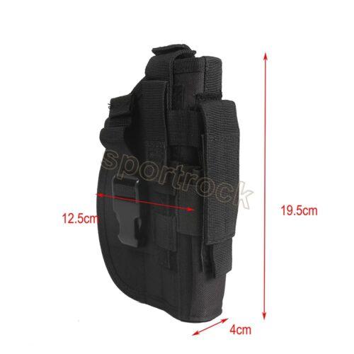 Right Hand Molle Belt Gun Pistol Holder Holster Portage Storage Pouch Bag Case