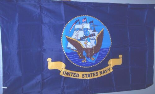 Navy Flag Licensed Military New  Poly 3/' x 5/' U.S