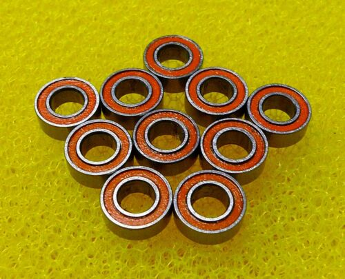 MR84RS 20 PCS 4x8x3 mm MR84-2RS ORANGE Rubber Sealed Ball Bearing